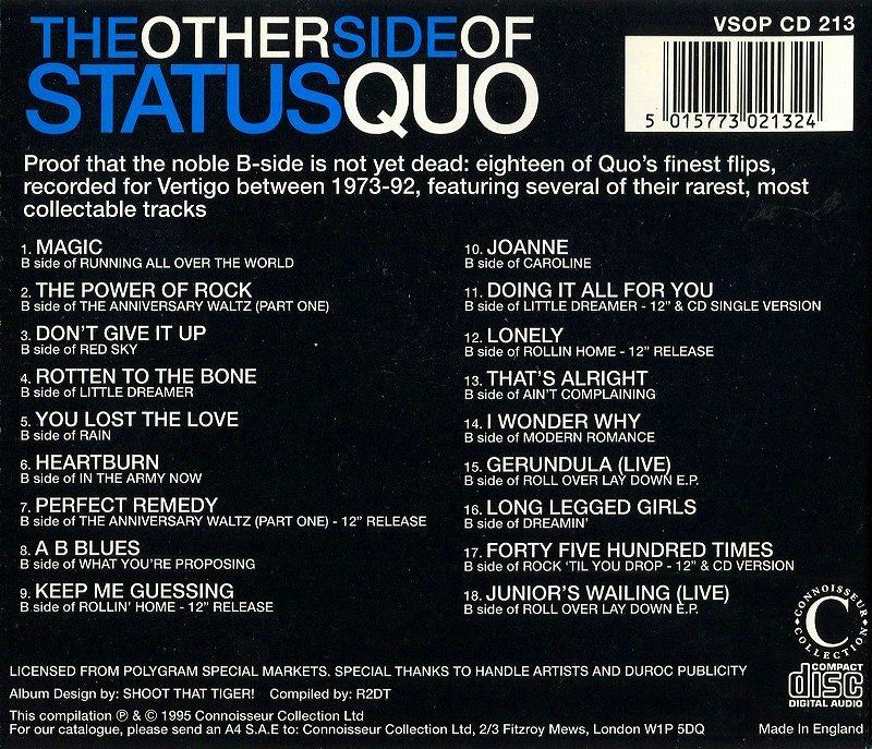 STATUS QUO/THE OTHER SIDE OF STATUS QUO ステイタス・クォー B面曲集