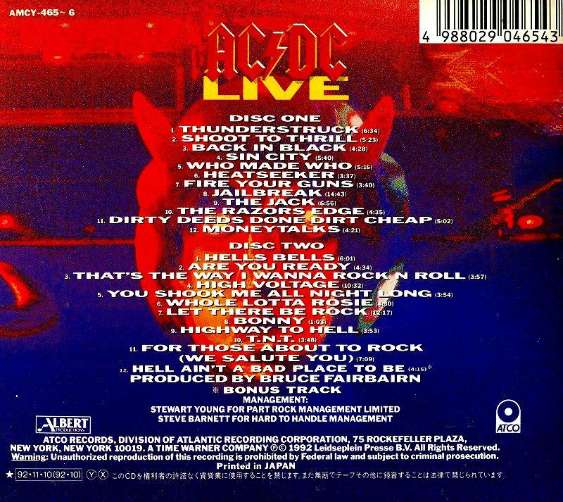 AC/DC LIVE ライヴ COLLECTOR'S EDITION 2枚組 国内盤