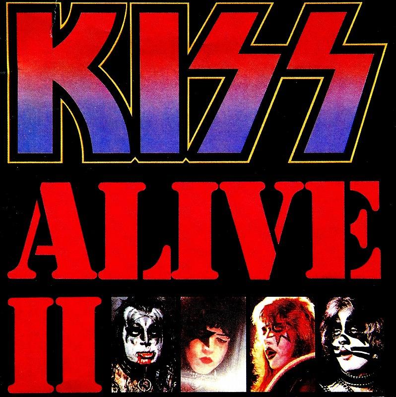 KISS/ALIVE � キッス アライヴ2 リマスター盤 2枚組 タトゥーステッカー付