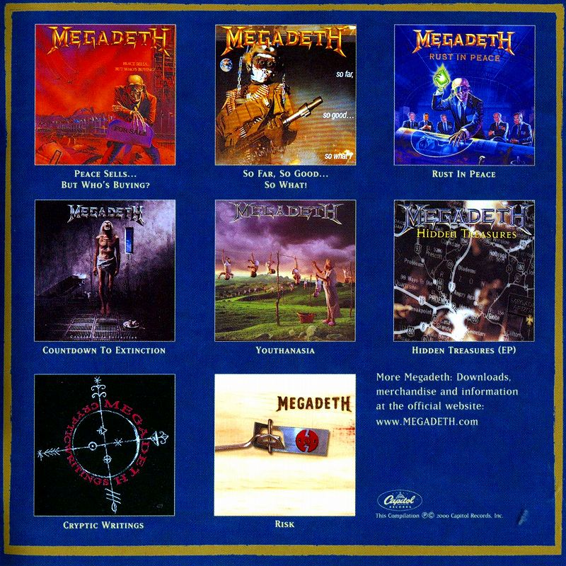 MEGADETH/CAPITOL PUNISHMENT:THE MEGADETH YEARS 国内盤