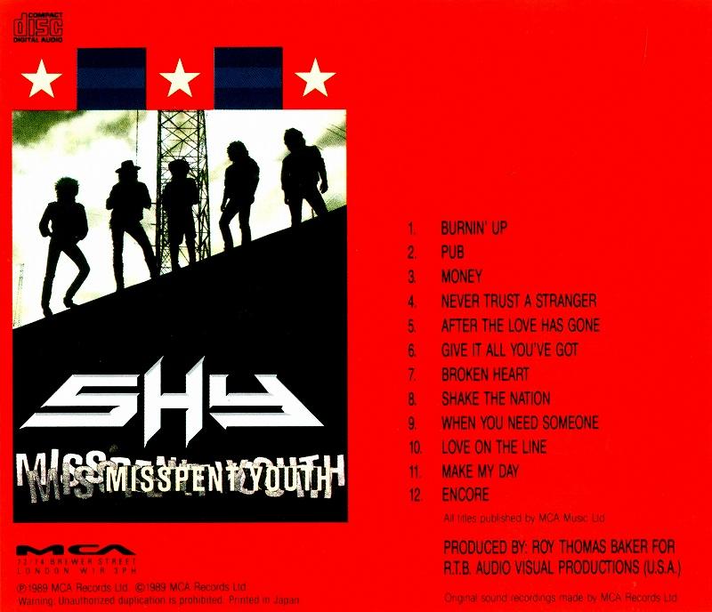 SHY/MISSPENT YOUTH シャイ ミスペント・ユース 89年作 国内盤