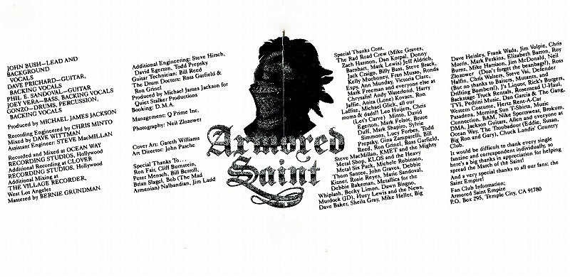 ARMORED SAINT/MARCH OF THE SAINT アーマード・セイント 84年作 国内盤