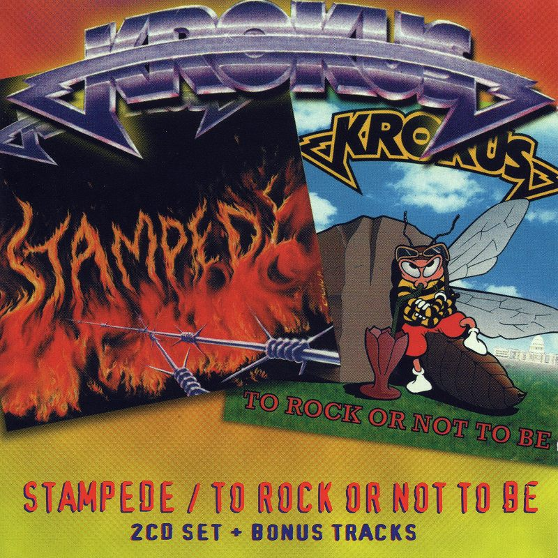 KROKUS STAMPEDE/TO ROCK OR NOT TO BE クロークス 2枚セット