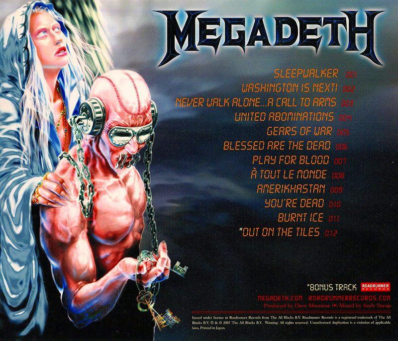 MEGADETH/UNITED ABOMINATIONS メガデス 2007年作 国内盤