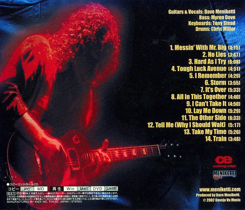 MENIKETTI/メニケッティ 2002年作 国内盤 Y&T デイヴ・メニケッティ
