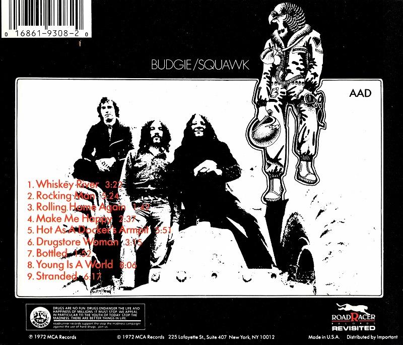 BUDGIE/SQUAK バッジー スクォーク 72年作 セカンド・アルバム