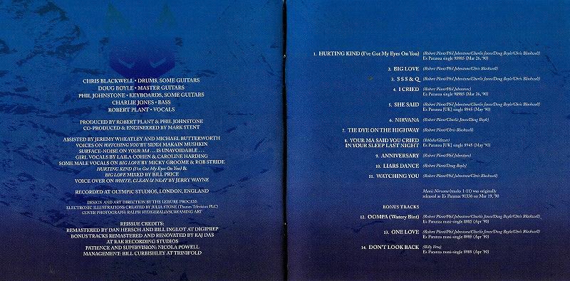 ROBERT PLANT/MANIC NIRVANA ロバート・プラント 90年作 リマスター盤