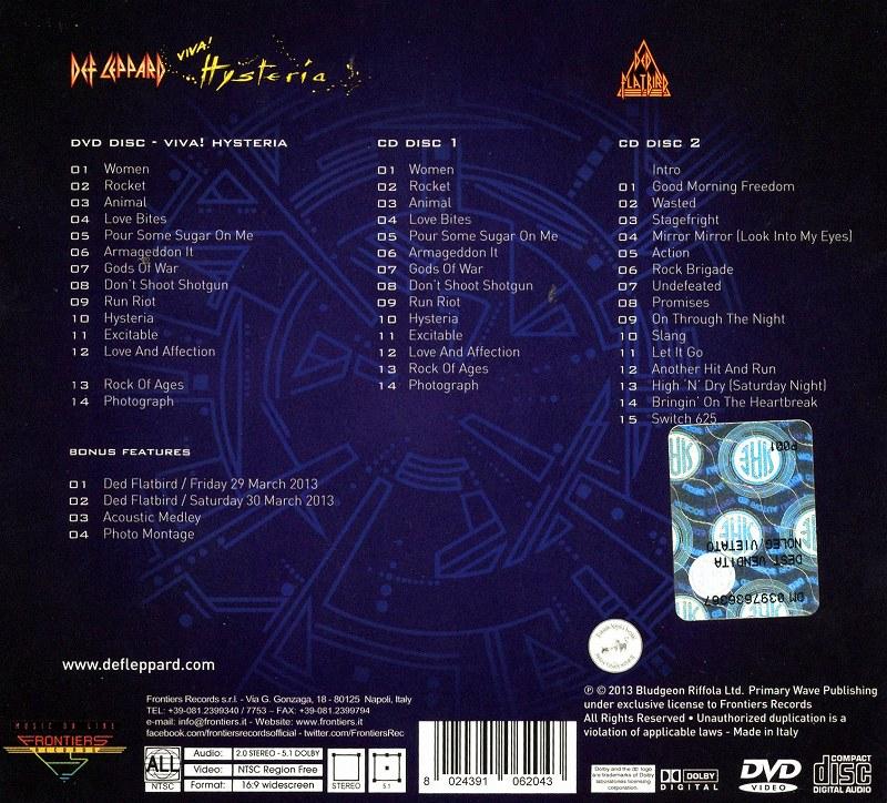 DEF LEPPARD/VIVA! HYSTERIA 2CD+DVD デジパック3枚組