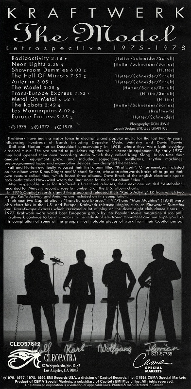 KRAFTWERK/THE MODEL RETROSPECTIVE 1975-1978 クラフトワーク