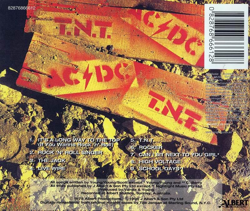 AC/DC T.N.T. 75年作 オーストラリア アルバート盤 セカンド リマスター盤