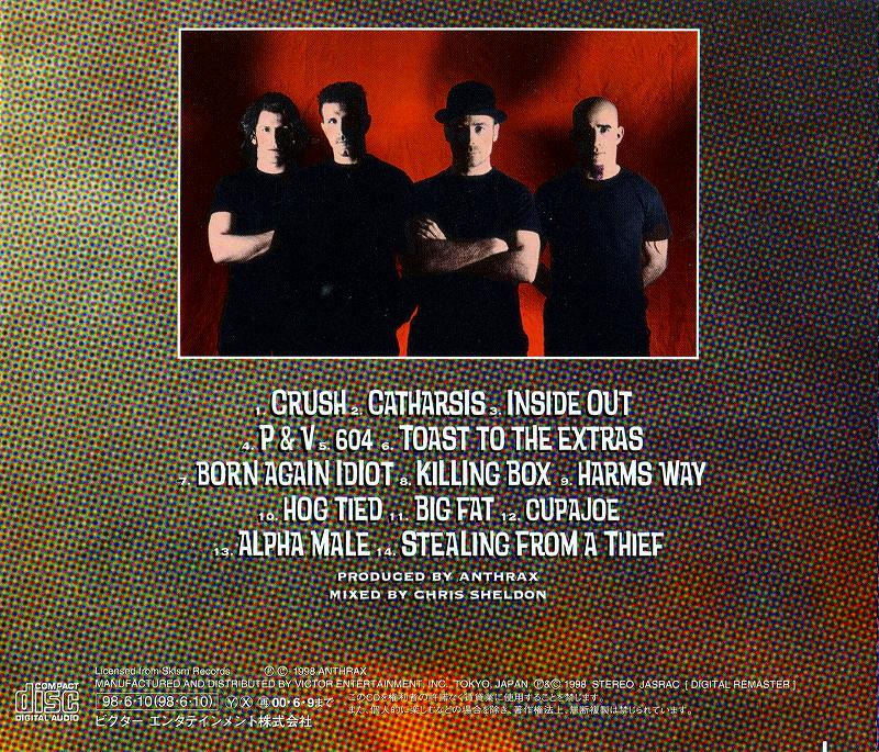 ANTHRAX/VOLUME 8 THETHREAT IS REAL! アンスラックス 国内盤 98年作