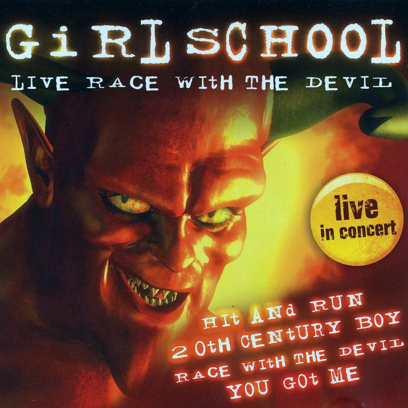 GIRLSCHOOL/LIVE RACE WITH THE DEVIL ガールスクール 84年ライヴ