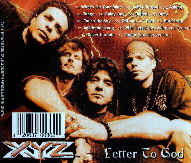 XYZ/LETTER TO GOD 2003年作 レター・トゥ・ゴッド 復活作 サード・アルバム