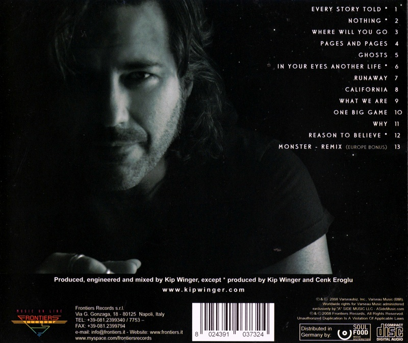 KIP WINGER/FROM THE MOON TO THE SUN 2008年作 キップ・ウィンガ—