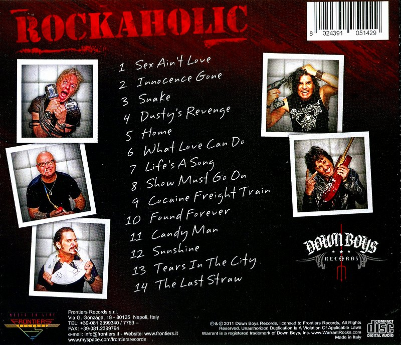 WARRANT/ROCKAHOLIC ウォレント ロッカホリック 2011年作 LAメタル讃歌