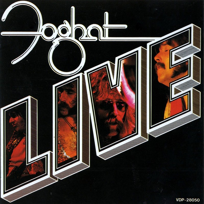 FOGHAT/LIVE フォガット ライヴ 国内盤 77年リリース作 ハード・ロック名盤