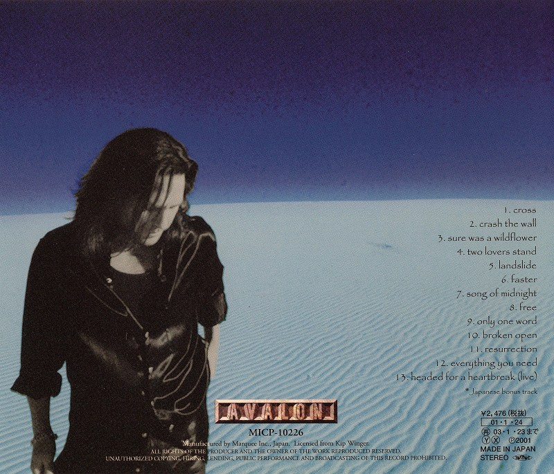 KIP WINGER/SONGS FROM THE OCEAN FLOOR キップ・ウィンガー 国内盤