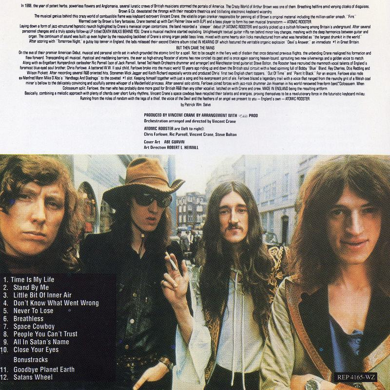 ATOMIC ROOSTER/MADE IN ENGLAND 72年作 4作目 アトミック・ルースター