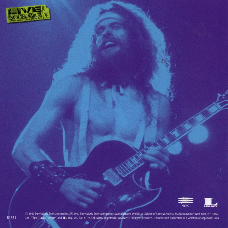 TED NUGENT/LIVE AT HAMMERSMITH '79 テッドニュージェント SBM盤