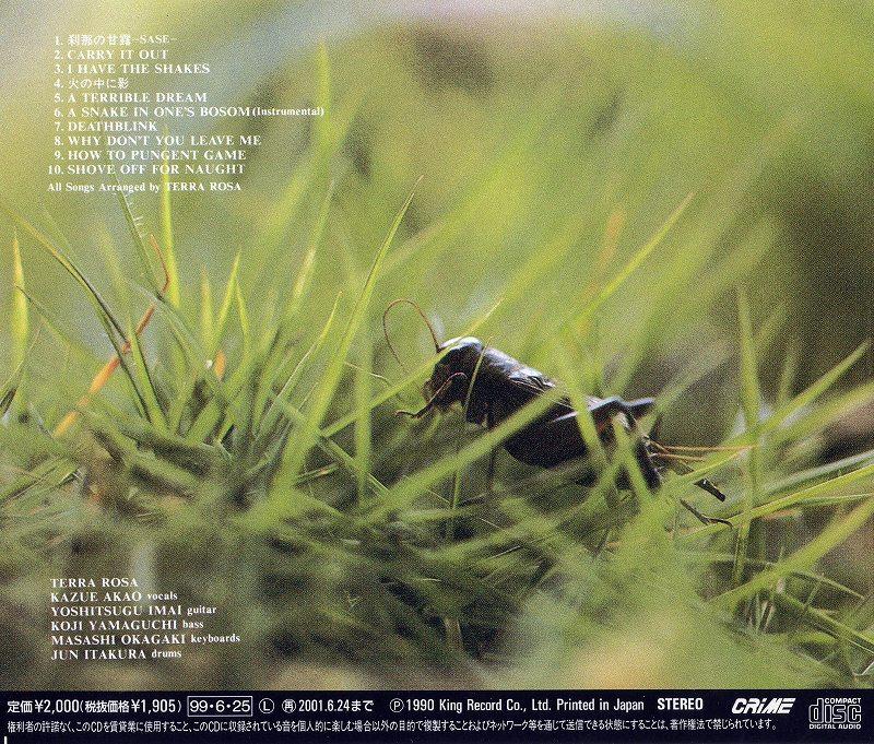 TERRA ROSA/刹那の甘露 -SASE- テラ・ローザ 90年作 最終作 リマスター盤