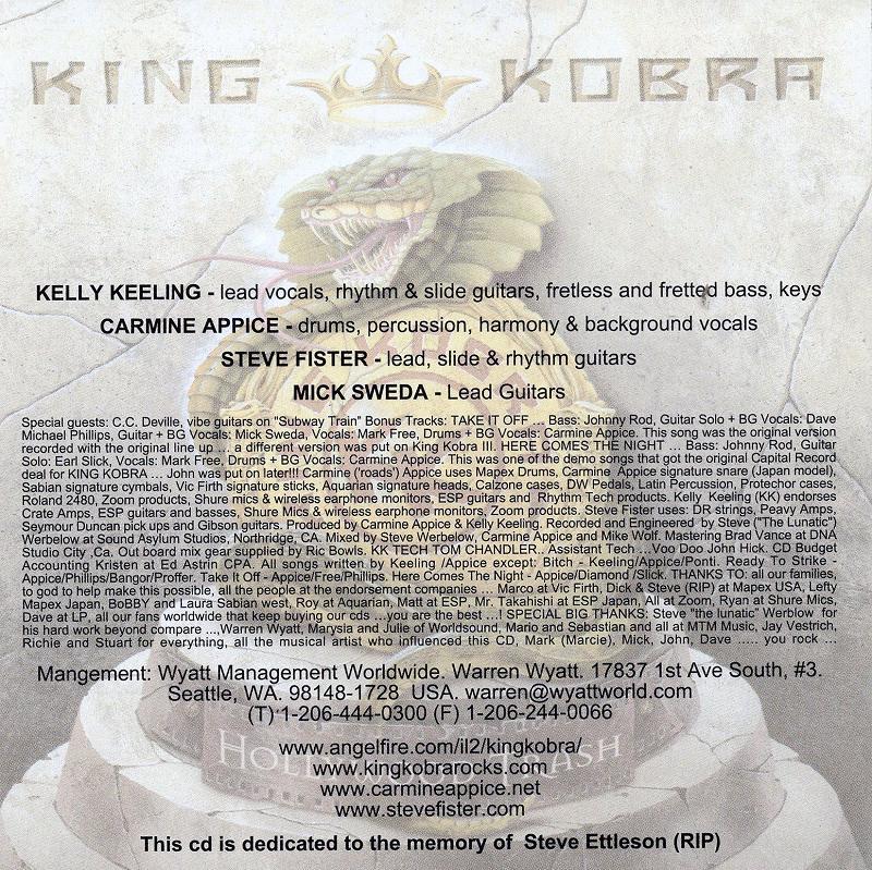 KING KOBRA/HOLLYWOOD TRASH 2001年作 キング・コブラ ハリウッド・トラッシュ