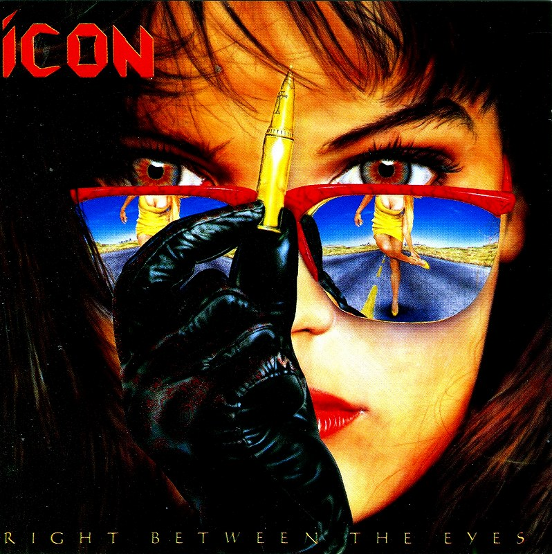 ICON/RIGHT BETWEEN THE EYES アイコン 眉間の弾丸 89年作 メロハー名盤