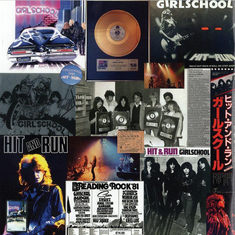 GIRLSCHOOL/HIT AND RUN REVISITED ガールスクール 2011年作 デジパック