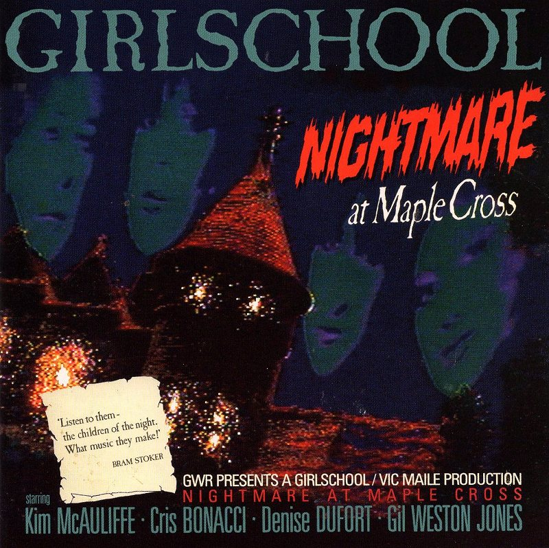 GIRLSCHOOL/NIGHTMARE AT MAPLE CROSS 86年作 ガールスクール