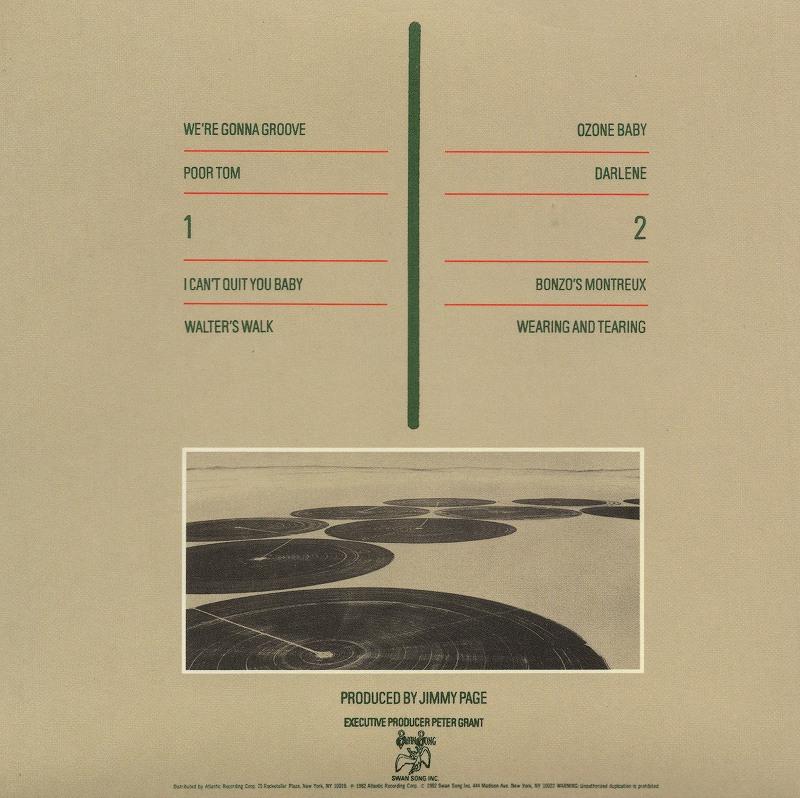 LED ZEPPELIN/CODA 最終楽章 コーダ レッド・ツェッペリン 82年作 国内紙ジャケ盤