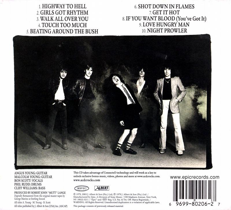 AC/DC HIGHWAY TO HELL 地獄のハイウェイ 79年作 デジパック