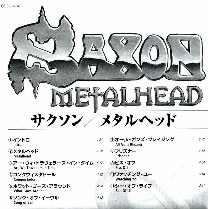 SAXON/METALHEAD サクソン メタルヘッド 1999年作 国内盤ステッカー付