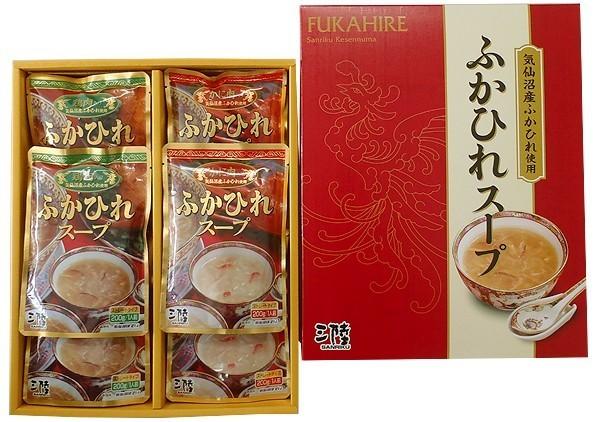 ふかひれ スープ 鶏肉・カニ肉入 送料無料 (200g×5袋×2種) ほてい 気仙沼 サメ コラーゲン ギフト レシピ 作り方
