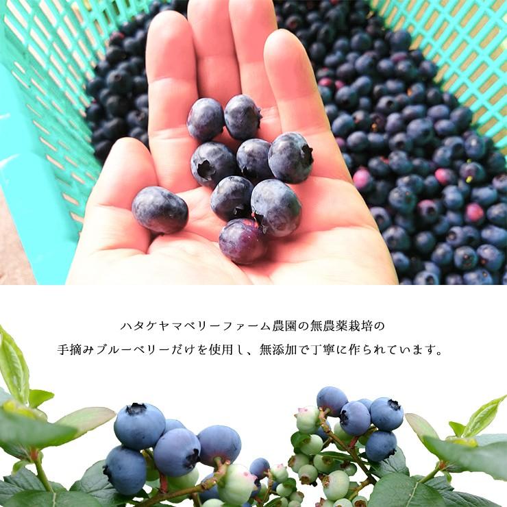 朝摘みブルーベリージャム 【ハタケヤマベリーファーム】 (200g) ジャム 無農薬 無添加 手摘みブルーベリー