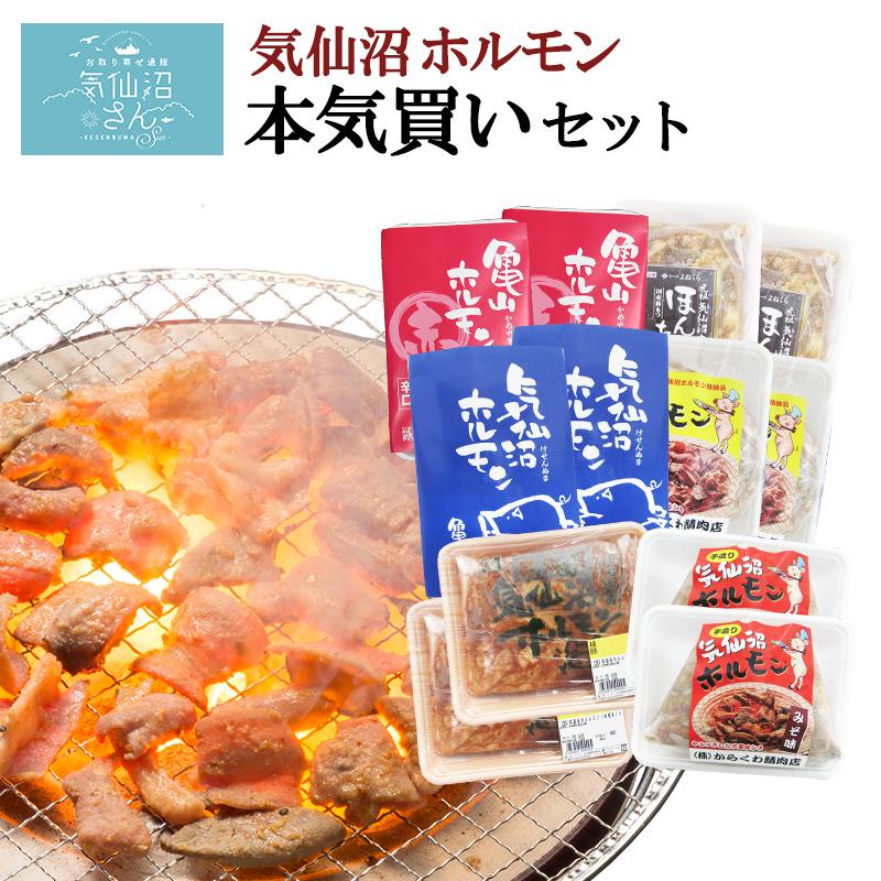 【送料無料】気仙沼ホルモン本気買いセット みそにんにく味 (1kg×6種) 豚ホルモン 赤 白 モツ 焼き肉 鍋 レシピ 作り方 お取り寄せ