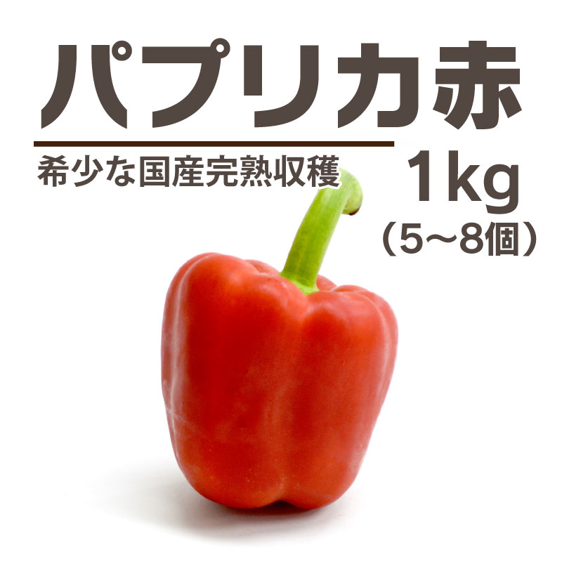 完熟収穫パプリカ 赤色[群馬] / パプリカ