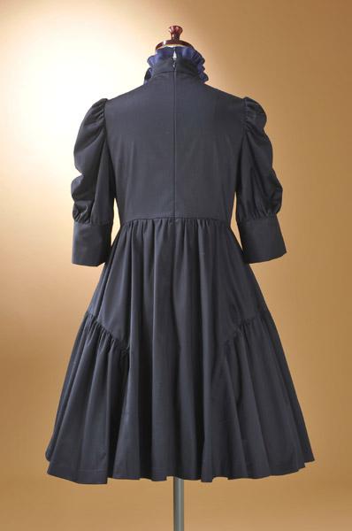 【五分袖七分袖】リボンタイが可愛い☆ホームクリーニングOK☆OPKJ196