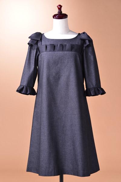 【五分袖七分袖】デニムの可愛いスタイルはコレ☆OPKJ115