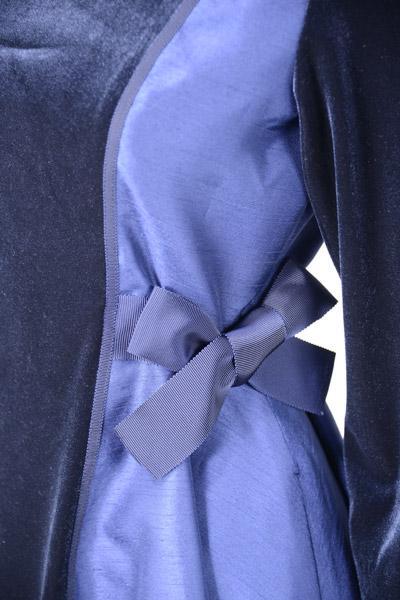 【五分袖七分袖】サイドの切替がほっそり見せ!ホームクリーニングOK☆STKJ218BK247F