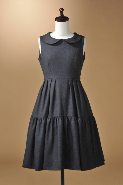 【ウール生地】丸襟が可愛い☆OPKJ156A