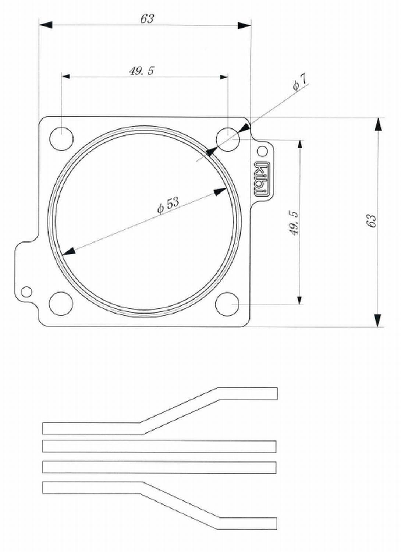ST-STUV08-001<br />メタル製ウェイストゲートガスケット