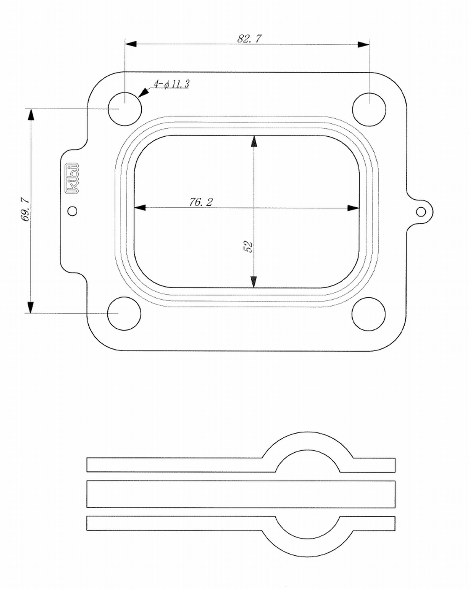メタル製タービンインレットガスケット<br />ST-STUV09-002