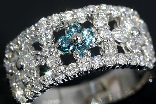 F70-20t0014-4【ダイヤモンド 1..01cts】Pt900透かしリング