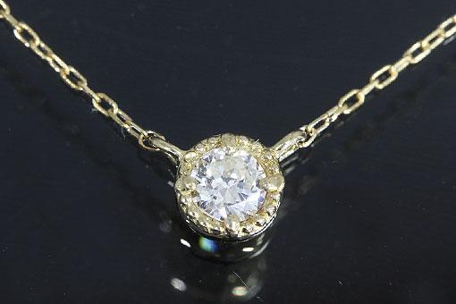 A550-20k0054【ダイヤモンド 0.10cts】K18ダイヤモンドネックレス