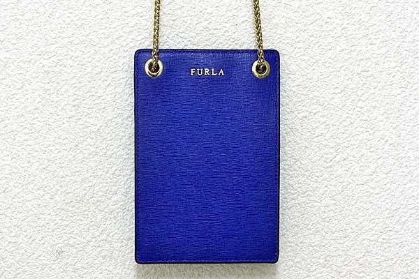A434-17n0130【FURLA 】チェーン付 モバイルケース