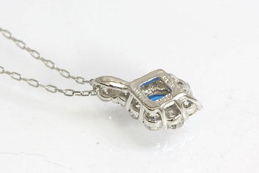 A544-20n0092【アウイナイト&ダイヤモンド】Pt900/850ネックレス