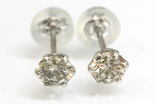 A552-20n0189【ブラウンダイヤモンド0.25cts×2】Pt900ピアス
