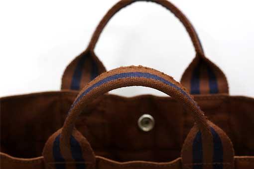 19n0101【HERMES(エルメス) 】フールトゥPM トートバッグ ブラウン×ネイビー