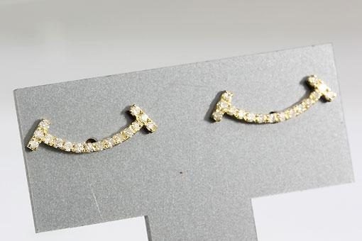 A533-19n0187【ダイヤモンド 0.12cts】K18スマイルピアス