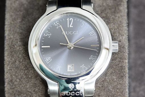 A546-20n0111【GUCCI(グッチ)】8900L グレー文字盤 クォーツ時計