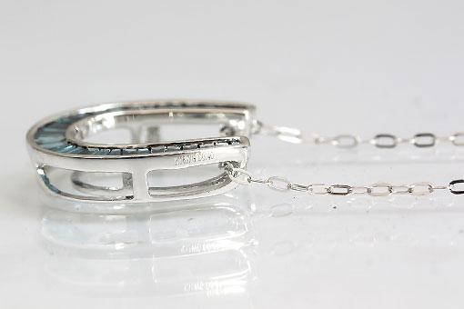 A547-20n0116【ブルーダイヤモンド 0.40cts 】K18WGペンダントネックレス